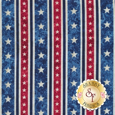Stonehenge Stars & Stripes V 39374-49 by Linda Ludovico & Deborah Edwards for Northcott Fabrics