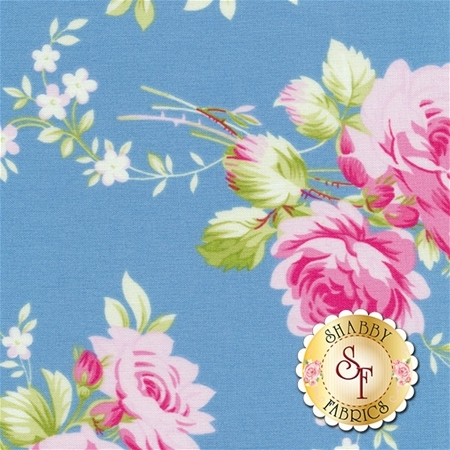 Sadie's Dance Card PWTW122-BLU by Tanya Whelan for Free Spirit Fabrics