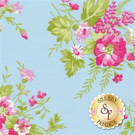 Sadie's Dance Card PWTW125-BLU by Tanya Whelan for Free Spirit Fabrics