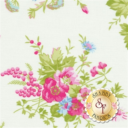Sadie's Dance Card PWTW125-WHT by Tanya Whelan for Free Spirit Fabrics