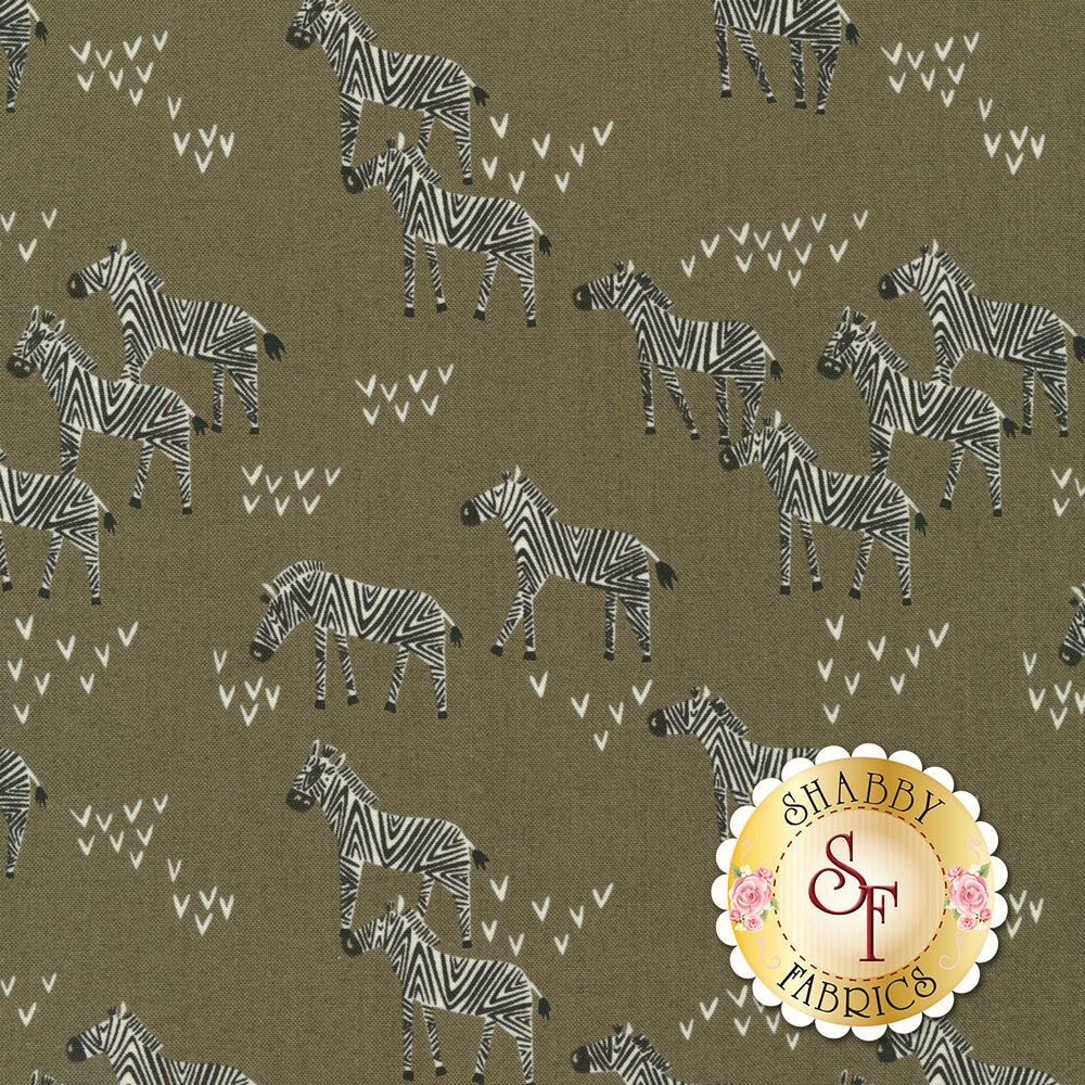 Zebras and arrows on gray | Shabby Fabrics