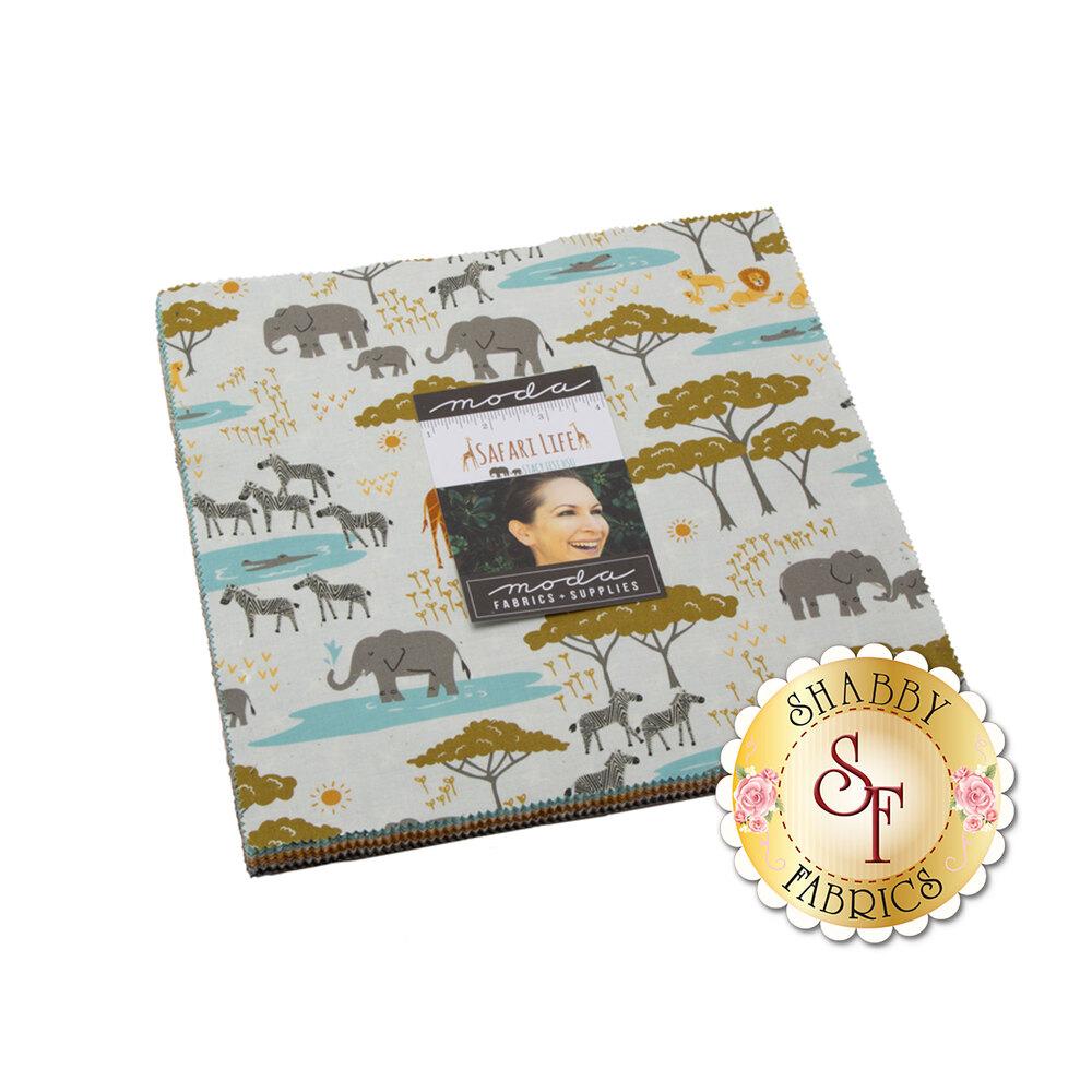 Safari Life Layer Cake pack   Shabby Fabrics