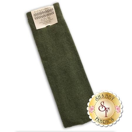 Hand Dyed Wool PRI 5033 Sage Herringbone by Primitive Gatherings for Moda Fabrics
