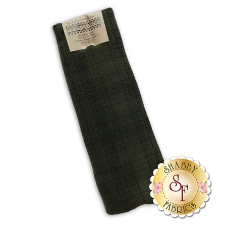 Hand Dyed Wool PRI 5035 Sage Plaid by Primitive Gatherings for Moda Fabrics