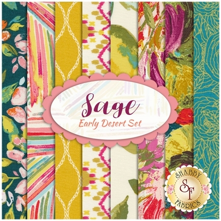 Sage  8 FQ Set - Early Desert Set by Bari J. for Art Gallery Fabrics