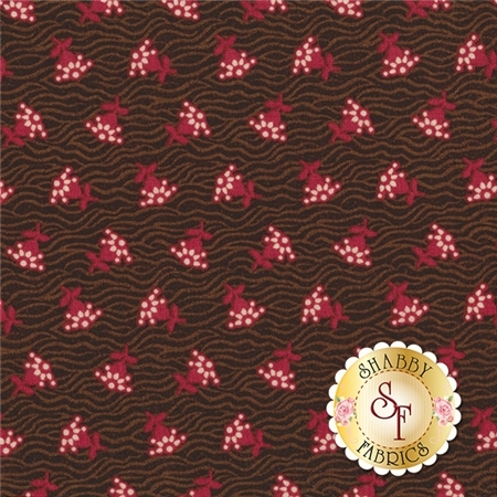 Samantha C4715-BROWN Brown Rose by Carrie Quinn for Penny Rose Fabrics