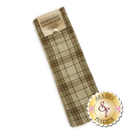 Hand Dyed Wool PRI 5007 Sand Plaid by Primitive Gatherings for Moda Fabrics