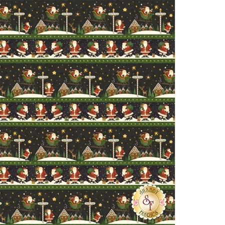 Santa's Big Night 67556-957 Repeating Stripe Multi by Debbie Mumm for Wilmington Prints
