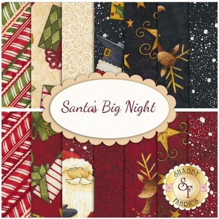 Santa's Big Night  14 FQ Set by Debbie Mumm for Wilmington Prints