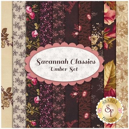 Savannah Classics 10 FQ Set - Umber by Sara Morgan for P&B Textiles