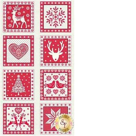 Scandi 4 1815-R Panel by Makower UK for Andover Fabrics