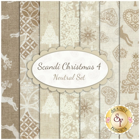 Scandi 4  7 FQ Set - Neutral Set by Andover Fabrics