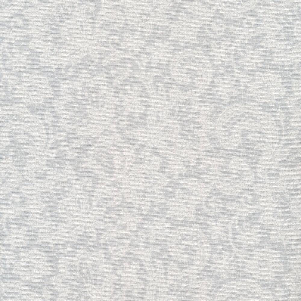 tonal gray lace | Shabby Fabrics