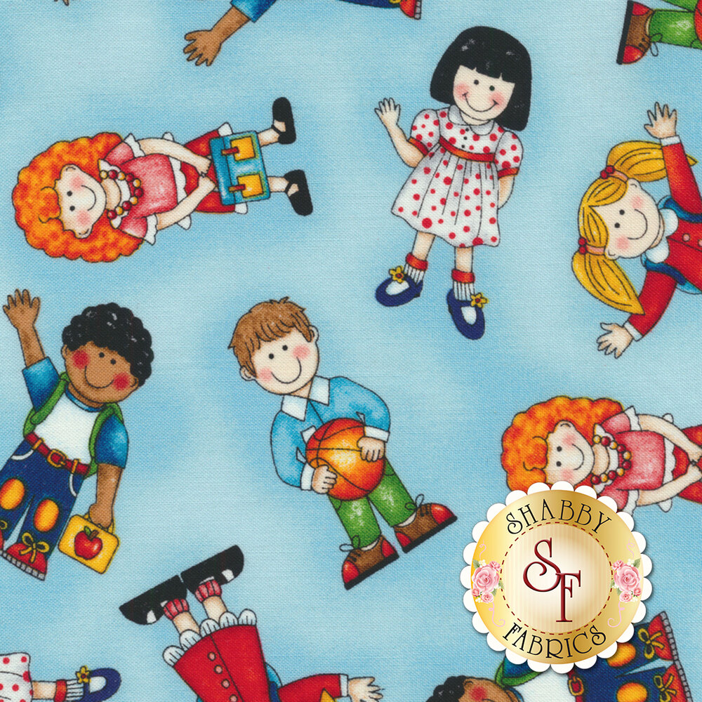 School Zone 4134-11 School Kids All Over by Studio E Fabrics from Pam Bocko