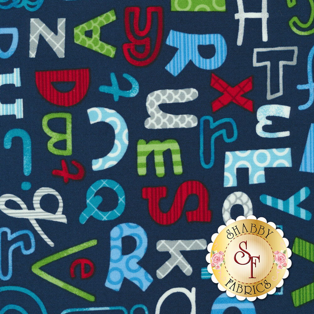 School Zone 4136-77 Alphabet All Over by Studio E Fabrics from Pam Bocko