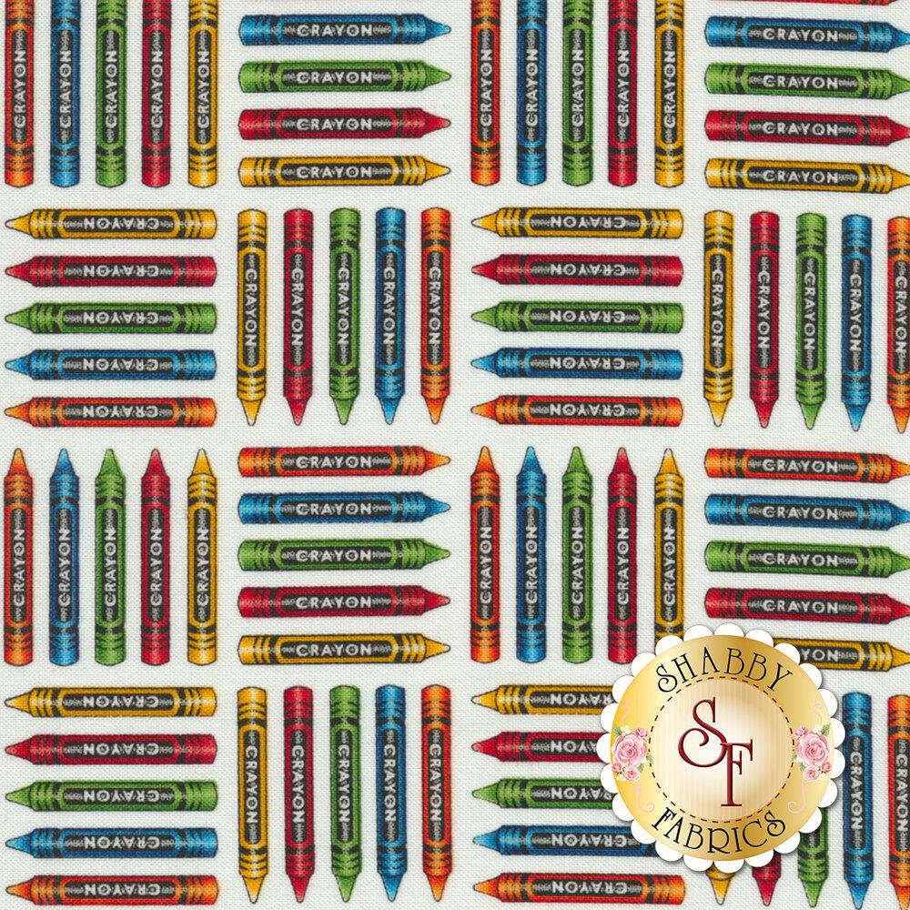 School Zone 4137-1 Crayons by Studio E Fabrics from Pam Bocko