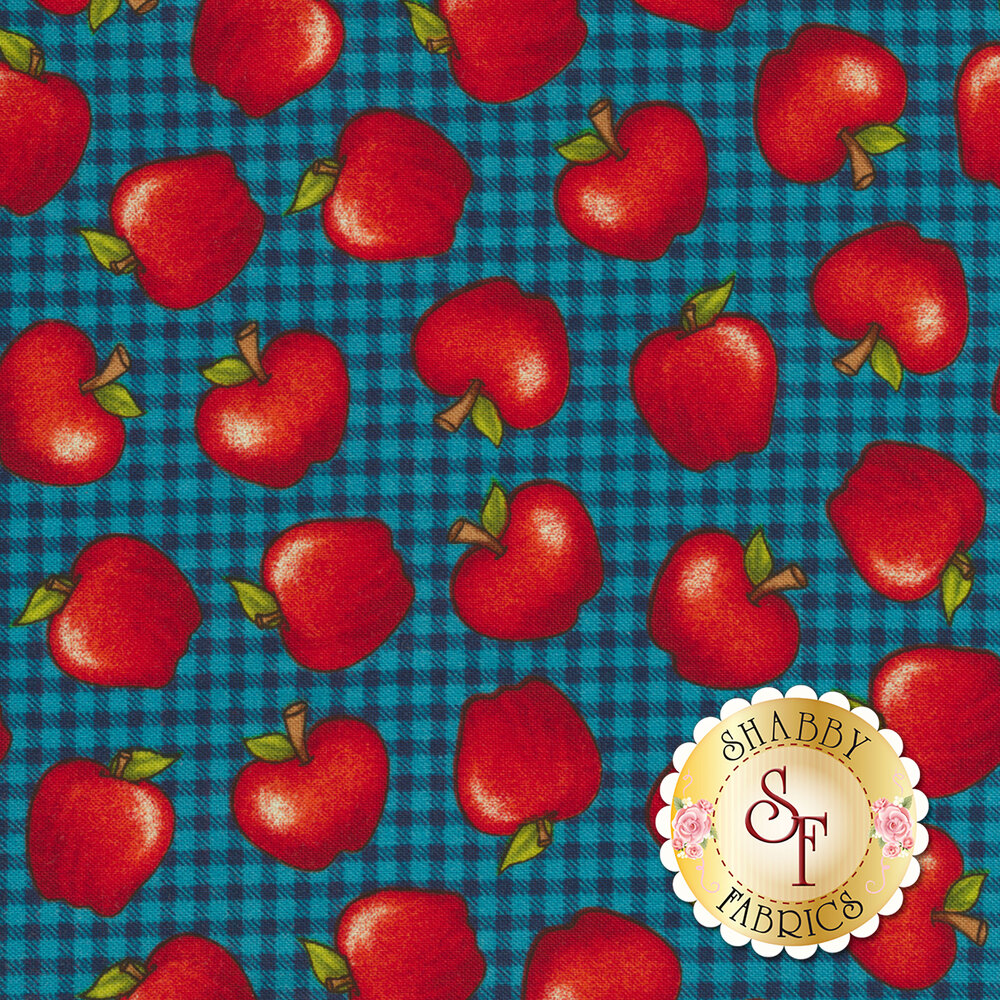 School Zone 4138-77 Apples by Studio E Fabrics from Pam Bocko