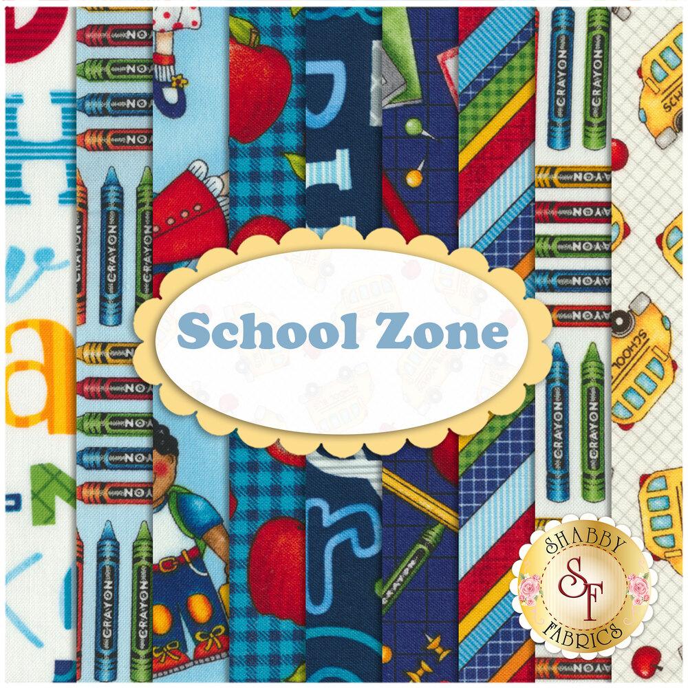 School Zone  9 FQ Set by Studio E Fabrics from Pam Bocko