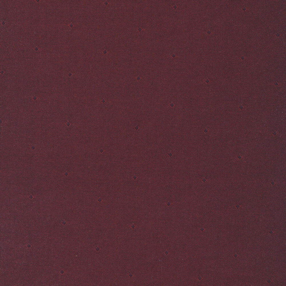 Light red diamond outlines on a dark red background | Shabby Fabrics