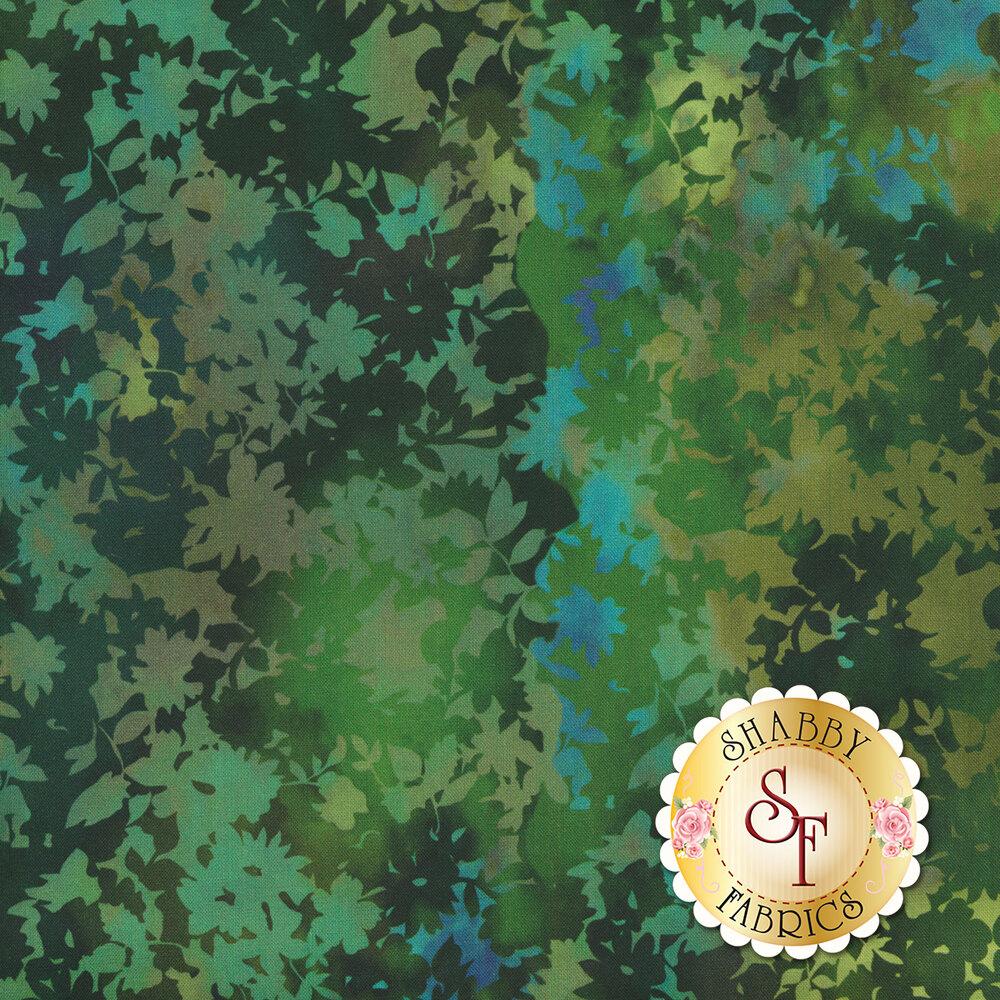 Tonal green leaf design | Shabby Fabrics