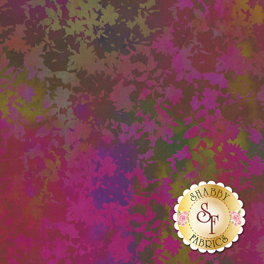 Multicolored leaf design | Shabby Fabrics