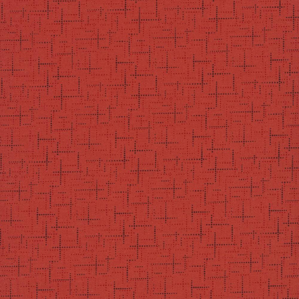 Tonal red texture print | Shabby Fabrics