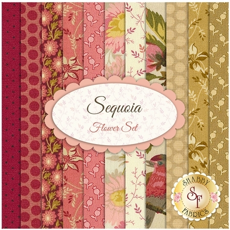 Sequoia   11 FQ Set - Flower Set by Edyta Sitar from Andover Fabrics
