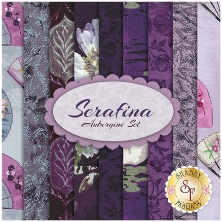 Serafina 9 FQ Set - Aubergine Set from Michael Miller Fabrics
