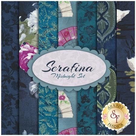 Serafina 7 FQ Set - Midnight Set from Michael Miller Fabrics
