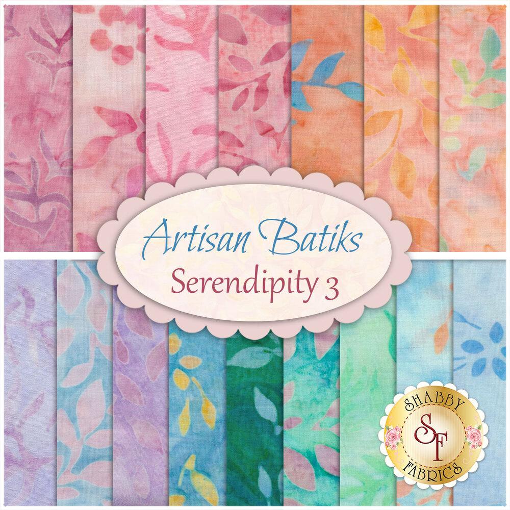 Serendipity 3 16 FQ Set by Robert Kaufman Fabrics