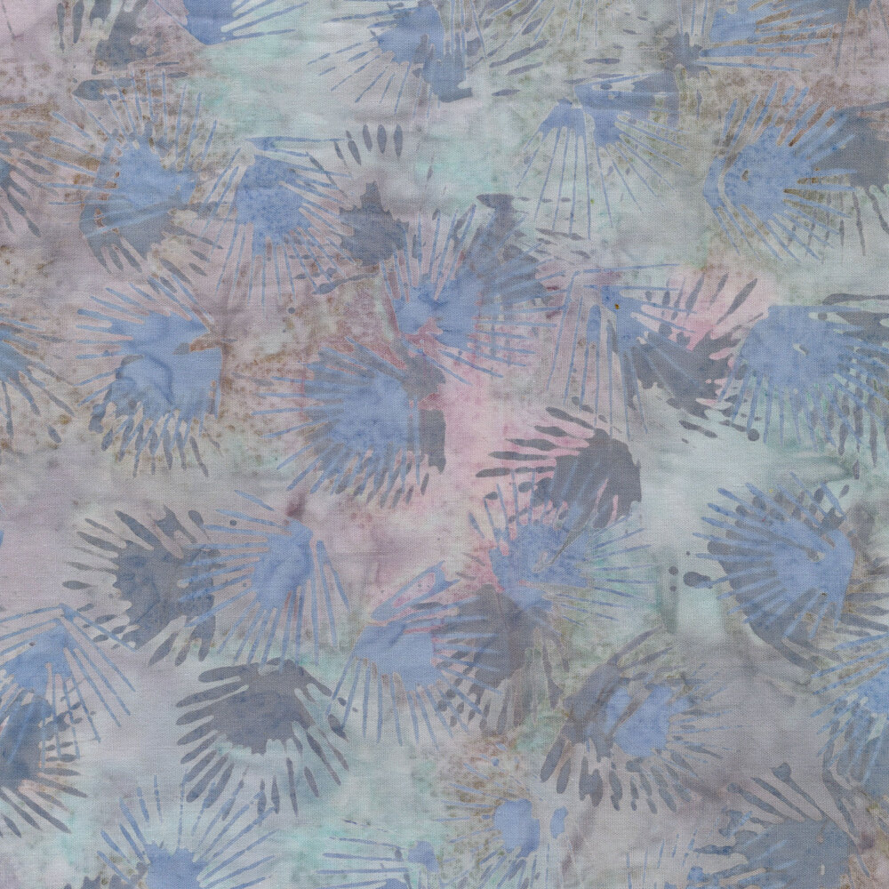 Pastel peach and grey batik fabric | Shabby Fabrics
