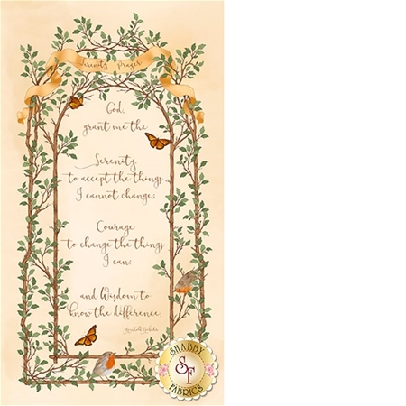 Serenity Prayer 25824-E Panel by Quilting Treasures