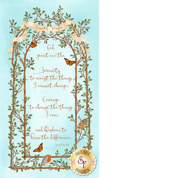 Serenity Prayer 25824-Q Panel by Felicia Gallo for Ivy Lane from Quilting Treasures