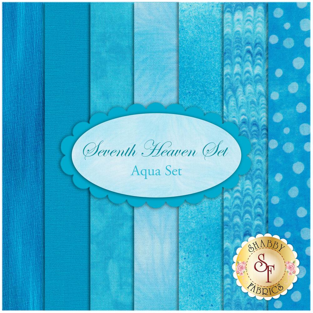 Seventh Heaven 7 FQ Set - Aqua from Shabby Fabrics