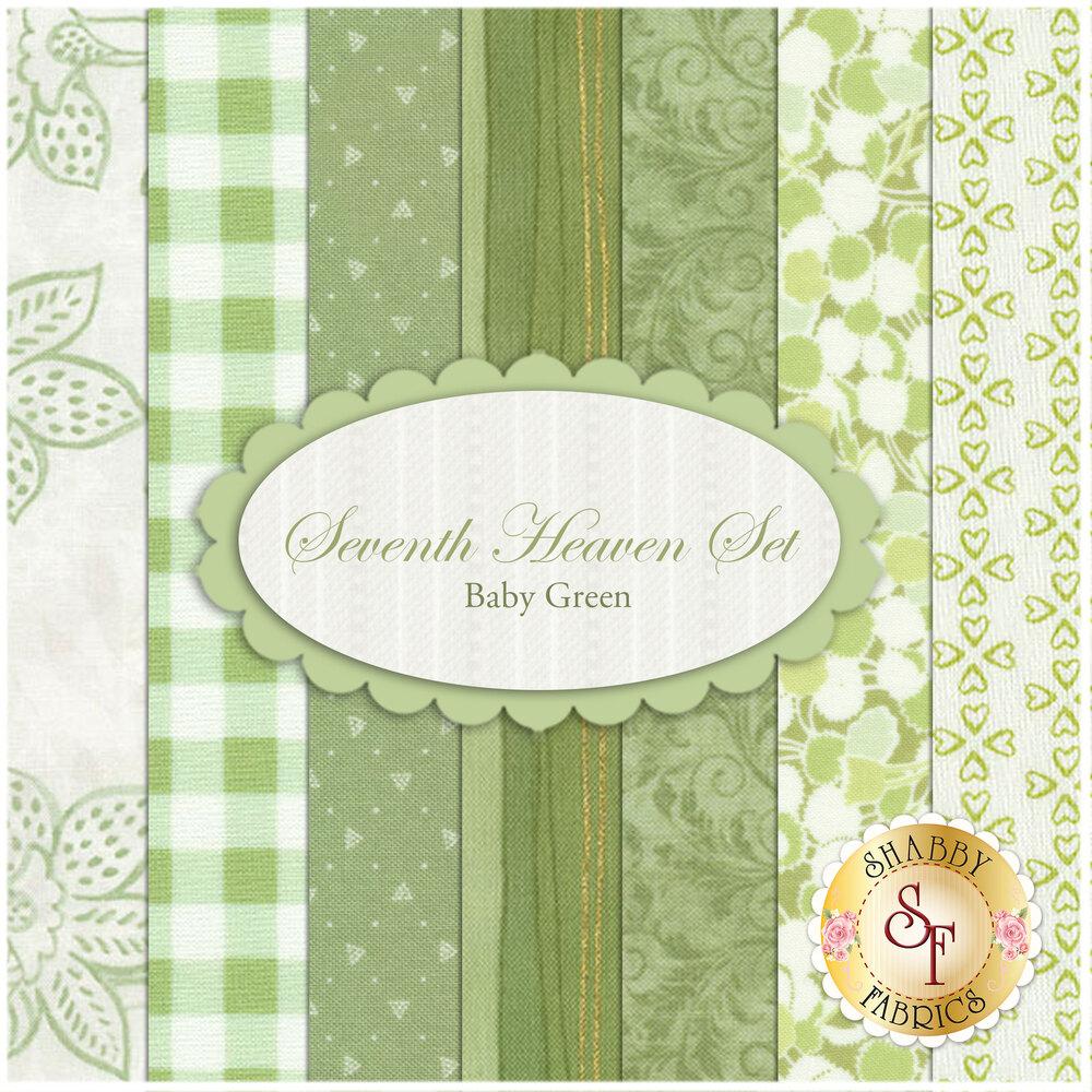 Seventh Heaven 7 FQ Set - Baby Green from Shabby Fabrics