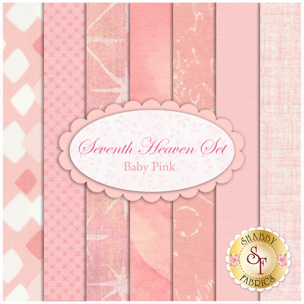 Seventh Heaven 7 FQ Set - Baby Pink from Shabby Fabrics