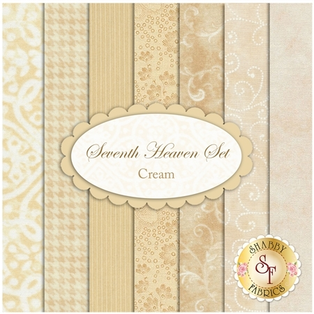 Seventh Heaven 7 FQ Set - Cream from Shabby Fabrics