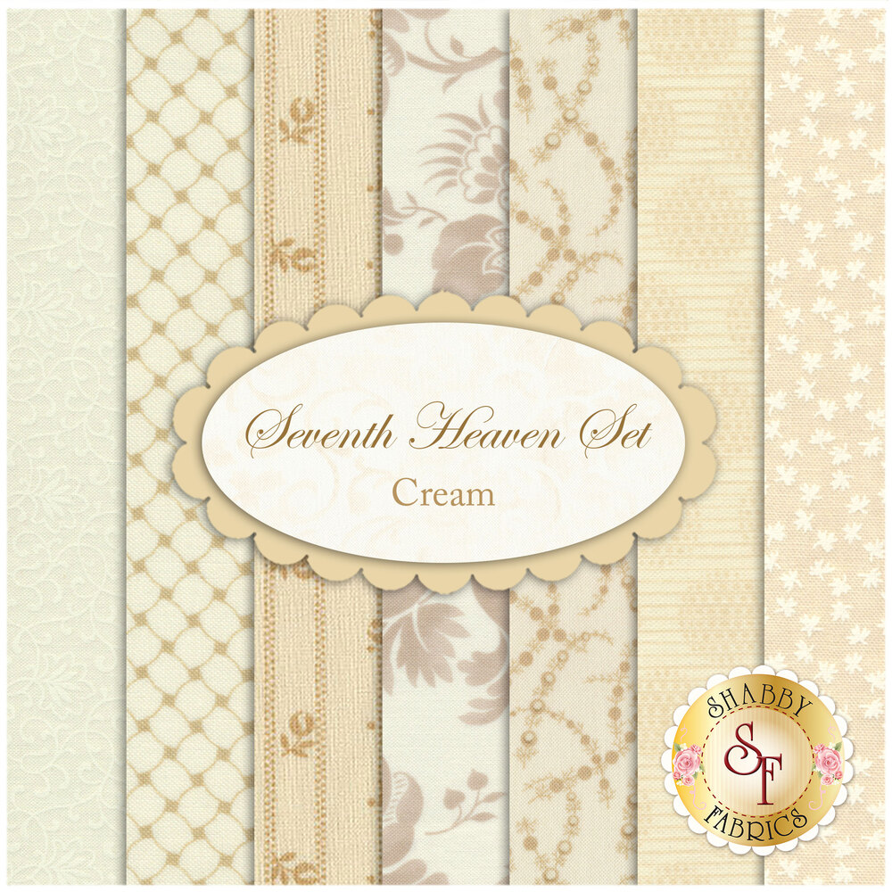 Seventh Heaven 7 FQ Set - Cream from Shabby Fabrics