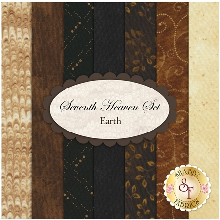Seventh Heaven 7 FQ Set - Earth from Shabby Fabrics