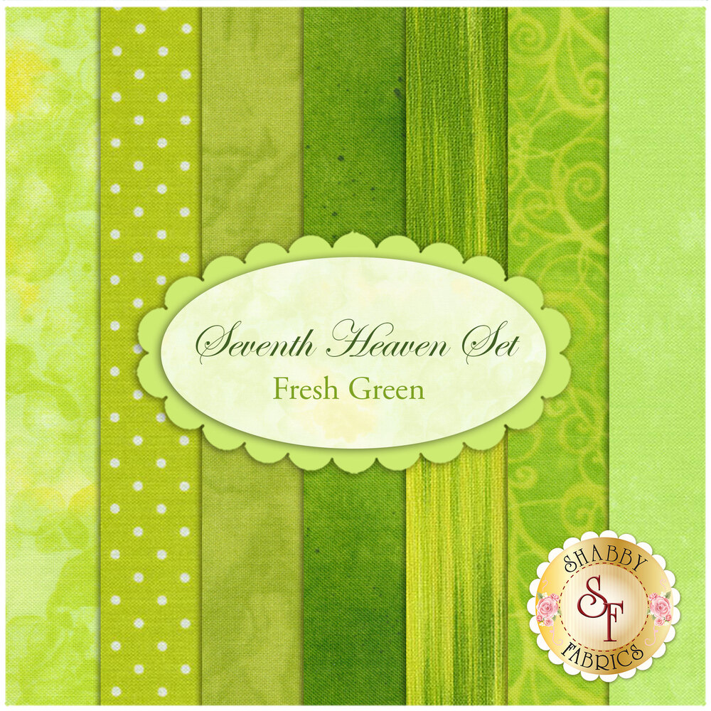 Seventh Heaven 7 FQ Set - Fresh Green from Shabby Fabrics