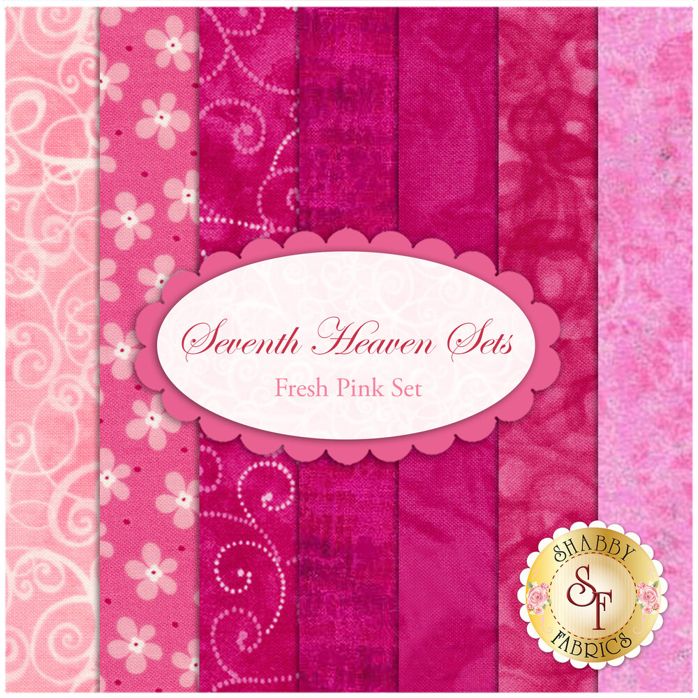 Seventh Heaven 7 FQ Set - Fresh Pink from Shabby Fabrics