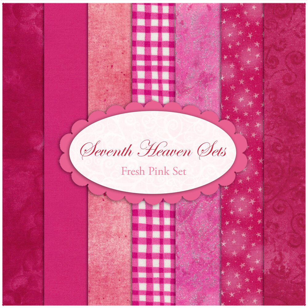 Seventh Heaven 7 FQ Set - Fresh Pink from Shabby Fabrics