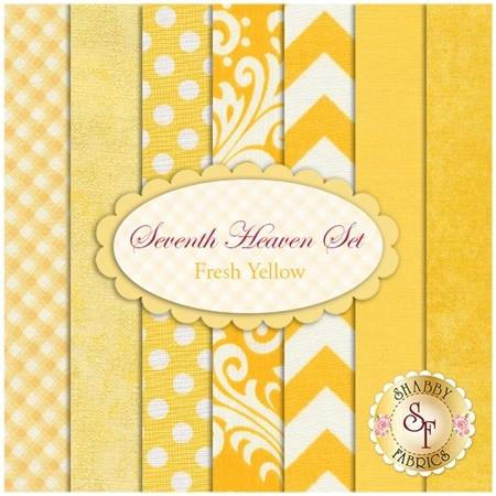 Seventh Heaven 7 FQ Set - Fresh Yellow from Shabby Fabrics