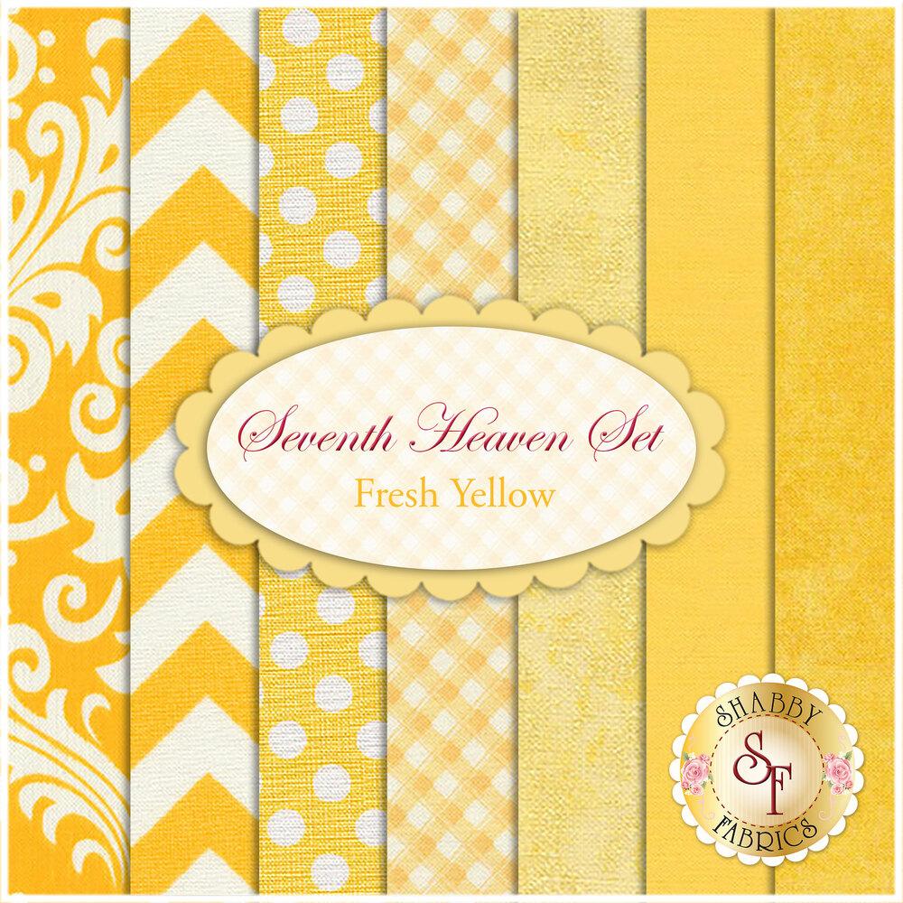 Seventh Heaven 7 FQ Set - Fresh Yellow from Shabby Fabrics