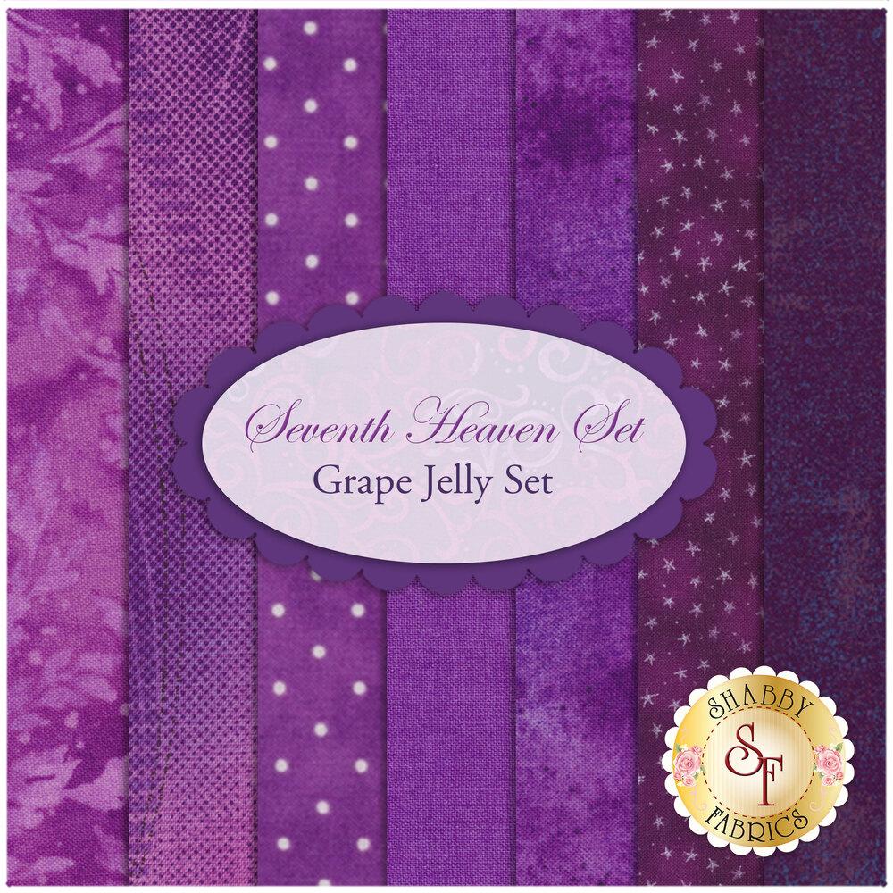 Seventh Heaven 7 FQ Set - Grape Jelly from Shabby Fabrics