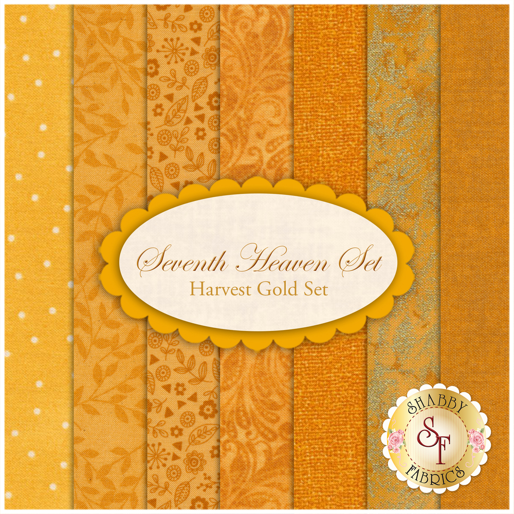 Seventh Heaven 7 FQ Set - Harvest Gold from Shabby Fabrics