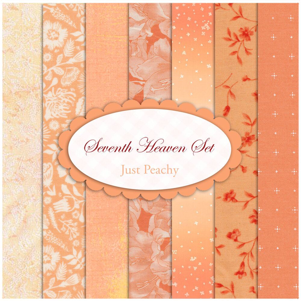 Seventh Heaven 7 FQ Set - Just Peachy from Shabby Fabrics