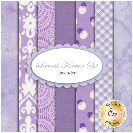 Seventh Heaven 7 FQ Set - Lavender from Shabby Fabrics