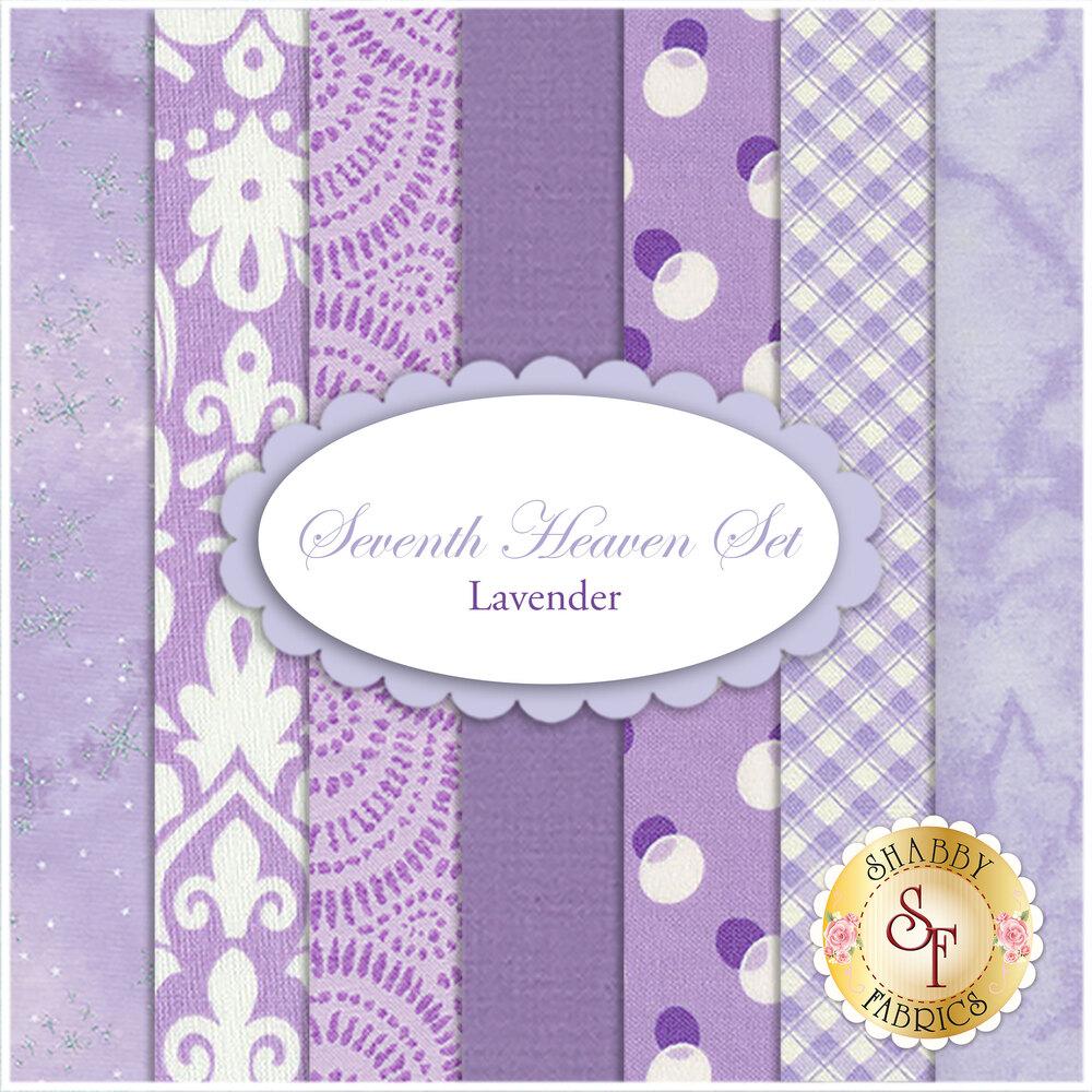 Seventh Heaven 7 FQ Set - Lavender from Shabby Fabrics