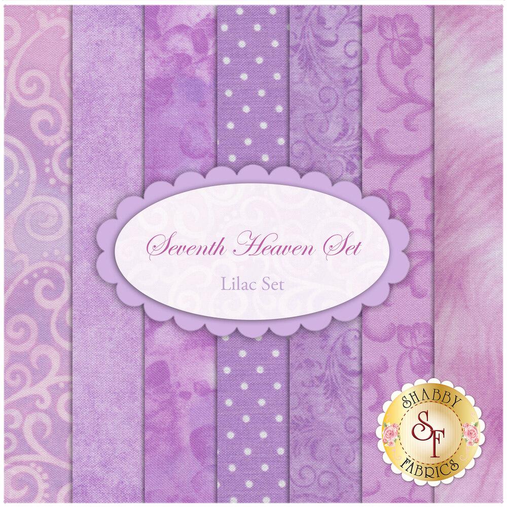 Seventh Heaven 7 FQ Set - Lilac by Shabby Fabrics
